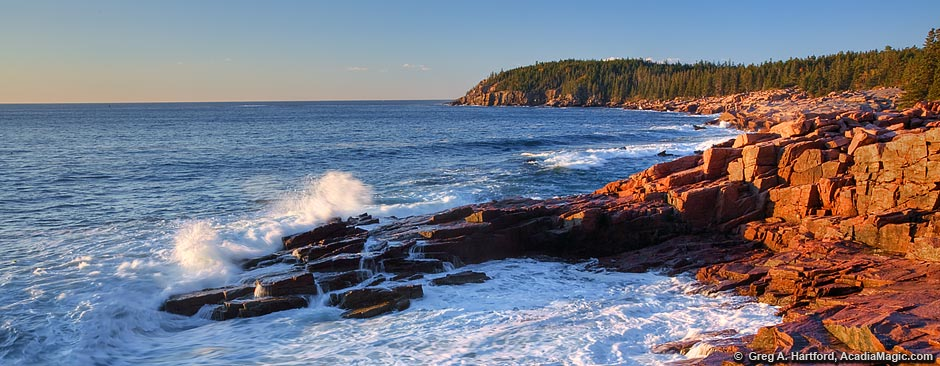Acadia National Park on MDI at sunrise