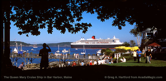 The Queen Mary Visits Bar Harbor Maine - Cruise ship bar harbor