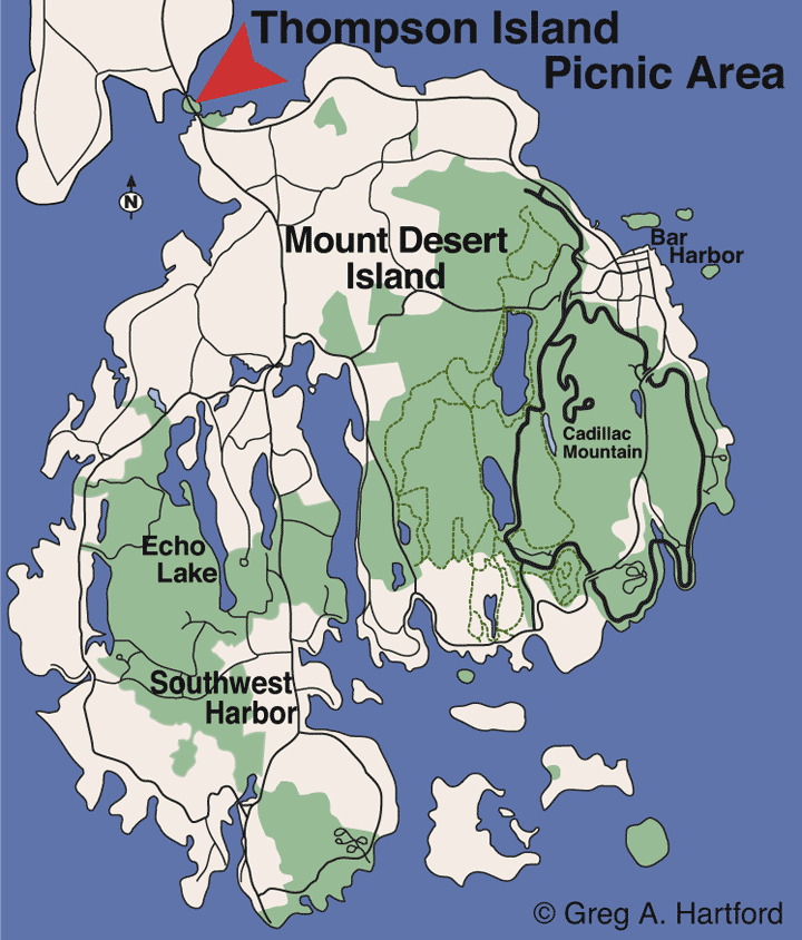 Park Picnic Area Location Map