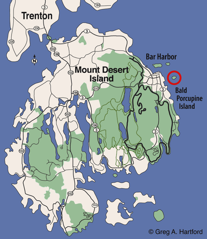 Bald Porcupine Island Location Map