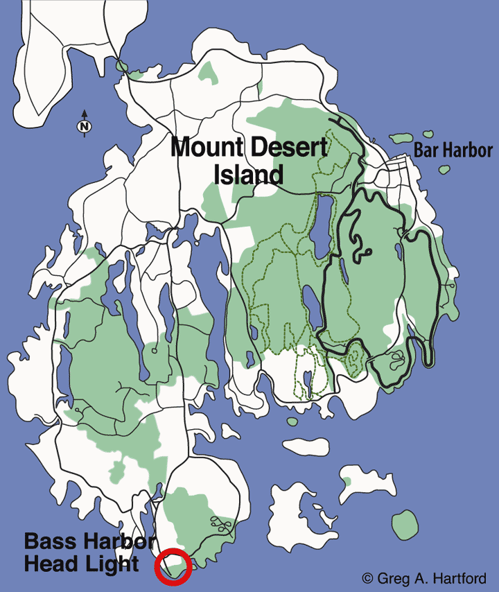 Map location of Bass Harbor Head Lighthouse