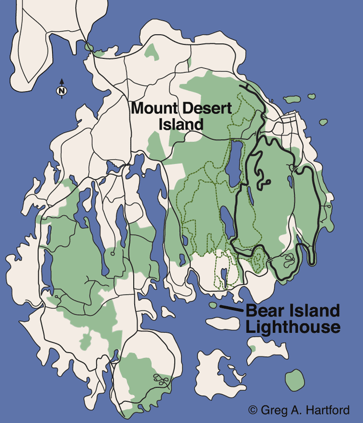Bear Island Location Map