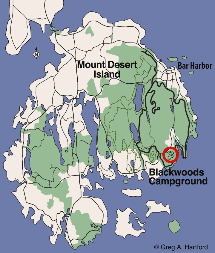 Blackwoods Campground Location Map