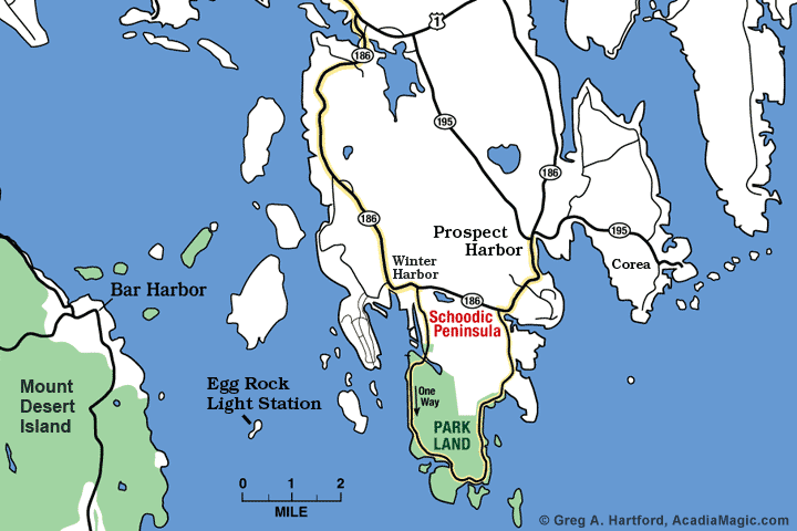 Location map of Egg Rock Lighthouse