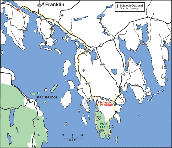 Location map of Franklin, Maine