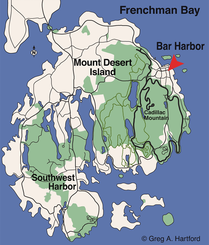 Little Hunters Beach Location Map