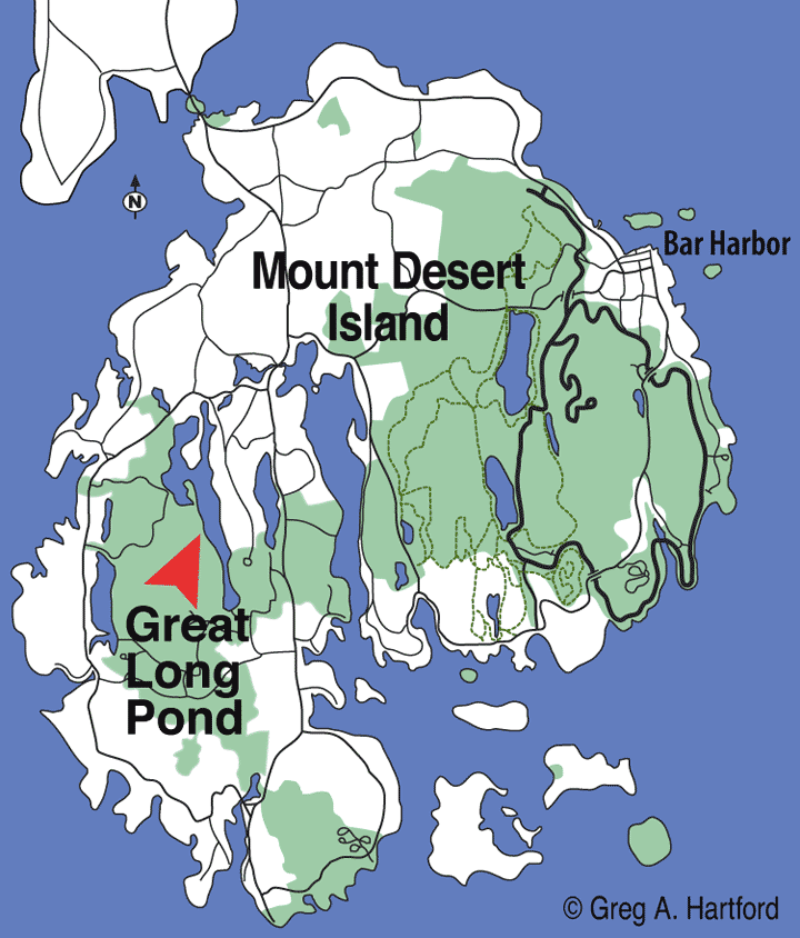 Great Long Pond Location Map