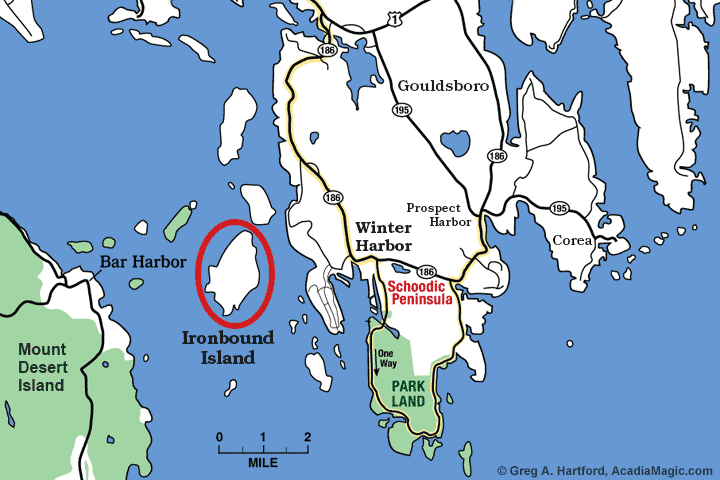 Location map of Ironbound Island