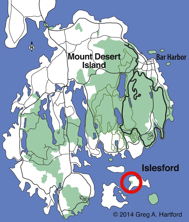 Location map for Islesford, Maine