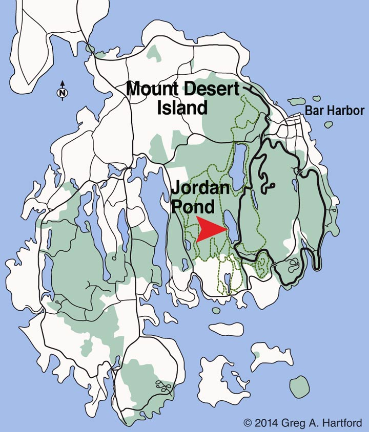 Jordan Pond Location Map
