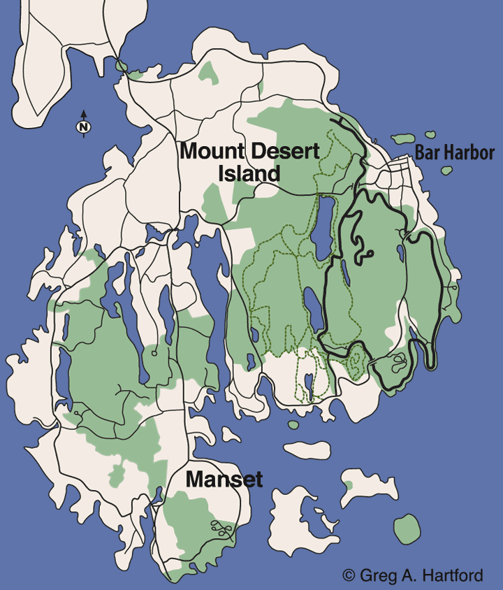Manset, Maine Location Map