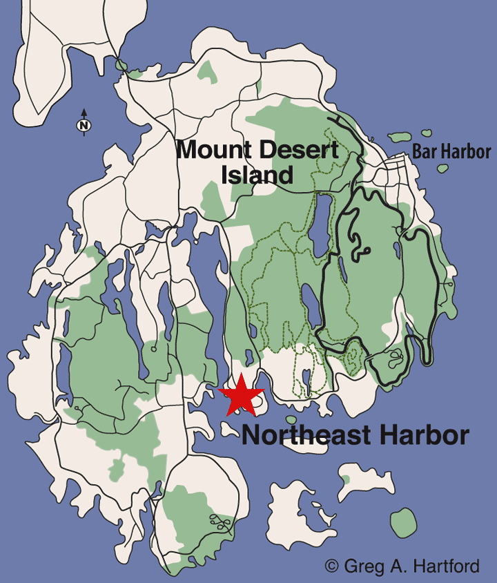 Northeast Harbor location map