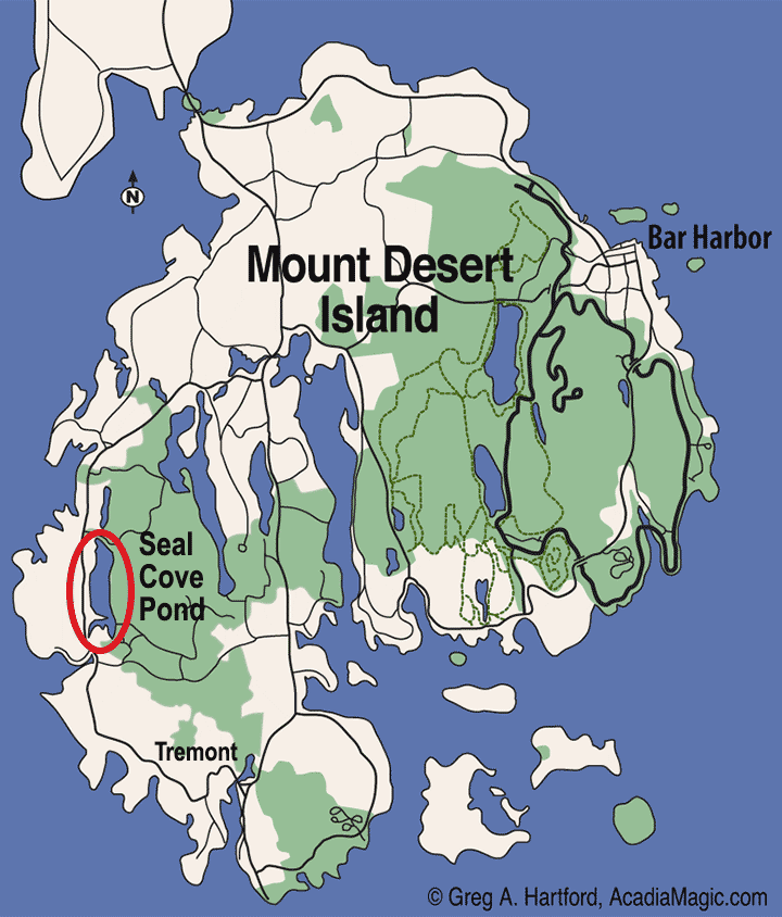 Seal Cove Pond Location Map