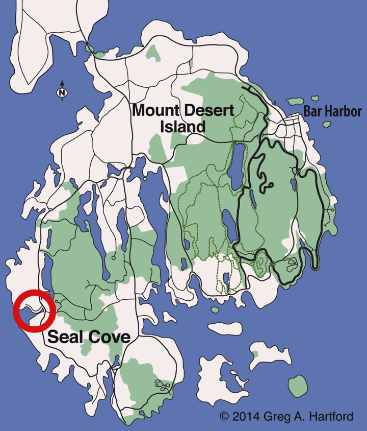 Seal Cove Location Map