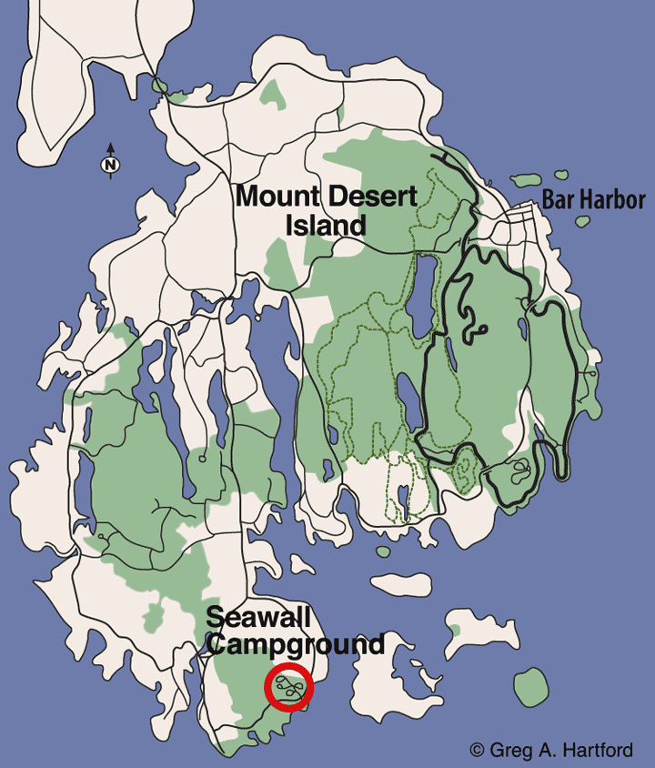 Seawall Campground Location Map