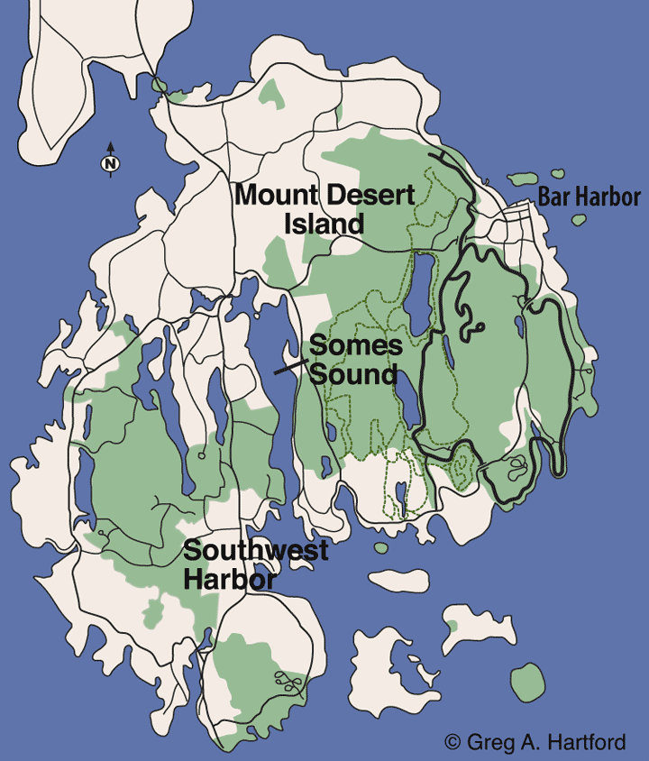 Somes Sound Location Map