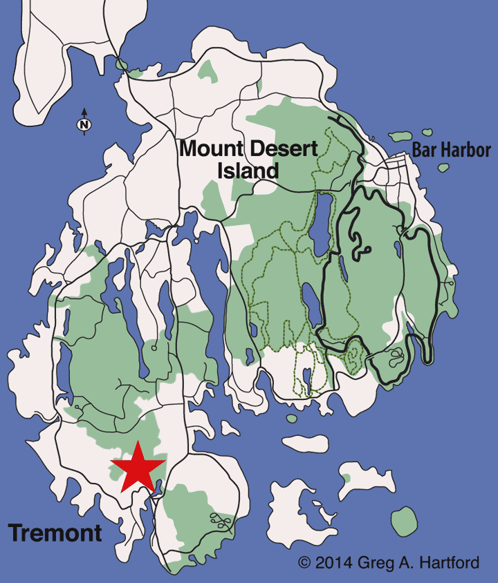Tremont, Maine Location Map