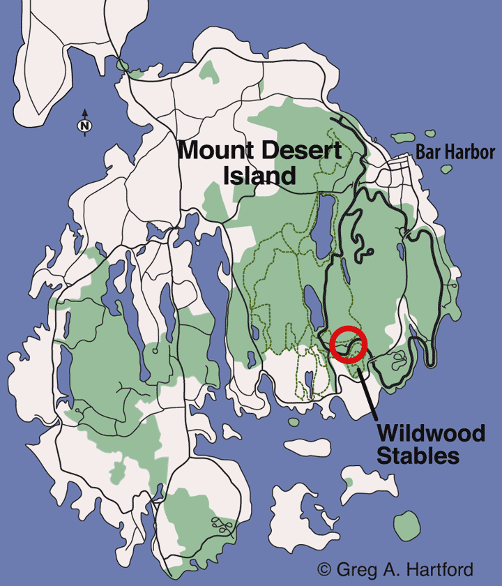 Wildwood Stables location map